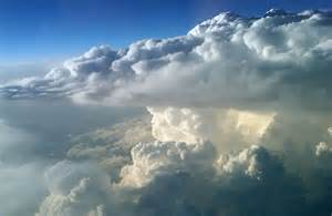 High above Thunderstorm Clouds