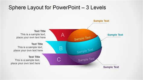 avada portfolio tree column template 3d spheres diagram design for powerpoint