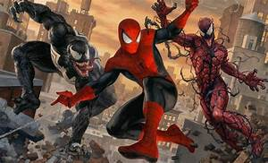 Marvel Spider-Man vs Venom and Carnage Art Print by ...