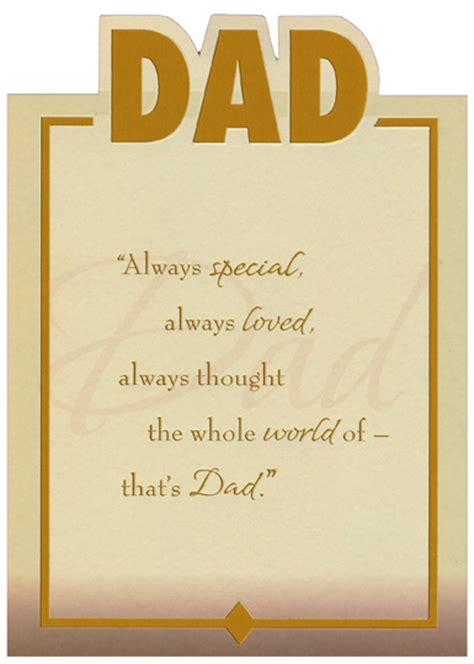 die cut dad gold foil lettering  frame top fold