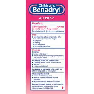 Children's Liquid Benadryl Dosage