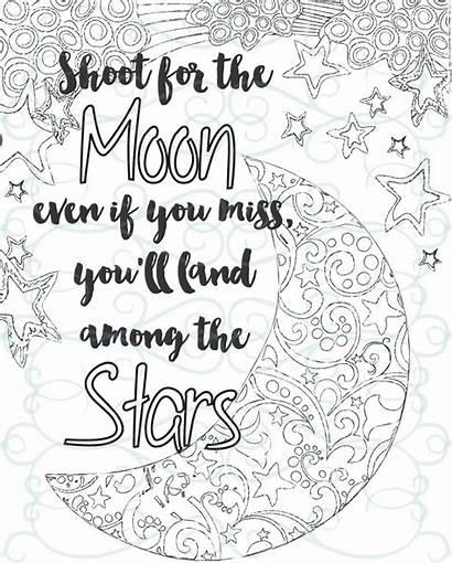Coloring Inspirational Adult Printable Shoot Moon Something