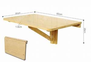 Table Pliable Murale : sobuy fwt03 n table murale rabattable en bois table pliable de cuisin ~ Preciouscoupons.com Idées de Décoration