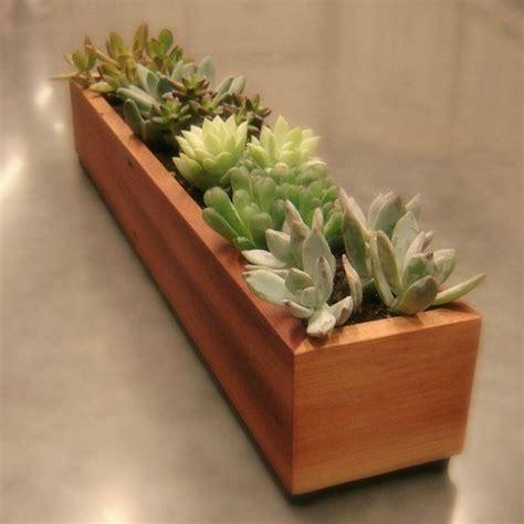 long window box succulent planter  reclaimed