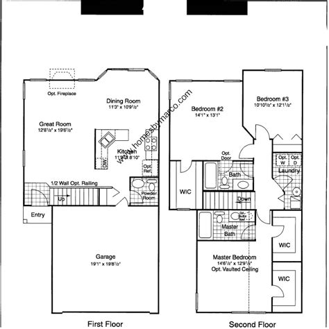 Centex Floor Plans 1998 by Amethyst Model In The Old Renwick Trail Subdivision In