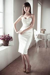 fitted style short wedding dress satin and lace short With short fitted wedding dresses