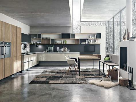 couleur cuisine moderne cuisine moderne bois et couleur