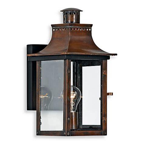 copper exterior light fixtures buy quoizel chalmers 1 light outdoor light fixture in