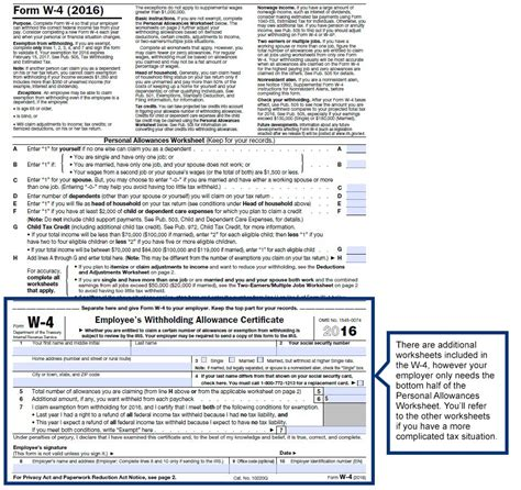 Printables Irs Personal Allowance Worksheet Mywcct