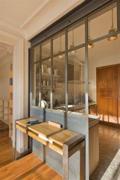 cuisine ouverte verriere la verrière dans la cuisine 19 idées photos