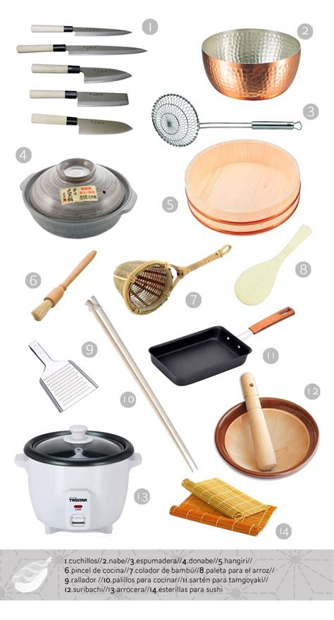 Japanese Kitchen Equipment japanese cuisine for beginners basic utensils japanese