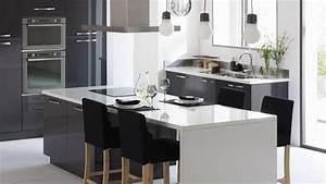Ilot Cuisine Table : alinea cuisine xxl table ilot projet cours pinterest ~ Teatrodelosmanantiales.com Idées de Décoration