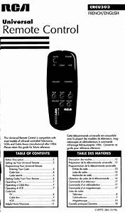 Rca Universal Remote Crcu303 User Guide
