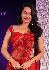 Sonakshi Sinha Latest Stills In Red Saree