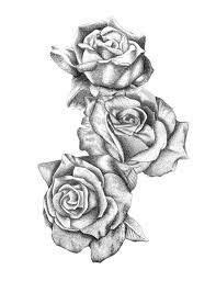 Resultado de imagen para three black and grey roses drawing tattoo | Rose drawing tattoo, Rose