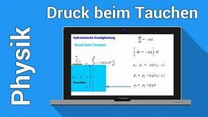 Druck Berechnen : hydrostatischer druck hydrostatik physik schweredruck unter wasser berechnen youtube ~ Themetempest.com Abrechnung
