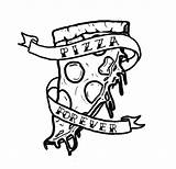 Pizza Tattoo Slice Drawing Tattoos Designs Steve Outline Stencil Banner Melting Forever Coloring Pages Piece Getdrawings Lover Poke Stick Deep sketch template