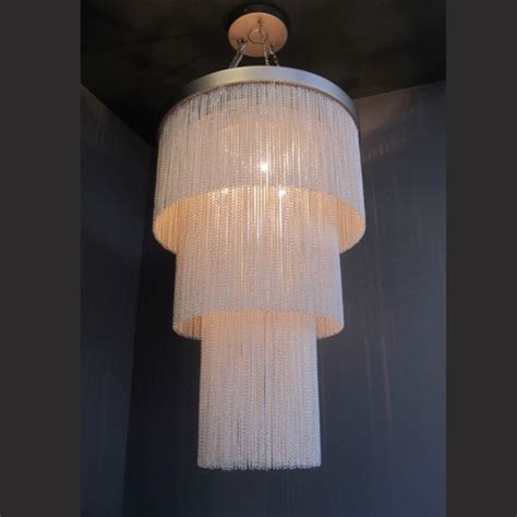 Silver Chain Chandelier by Silver Chain Chandelier Contemporary Chandeliers