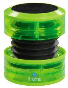 iHome iHM60QN Neon Series Mini Portable Speaker Green