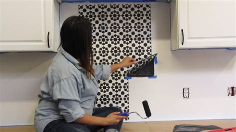 stencil  kitchen tile backsplash youtube
