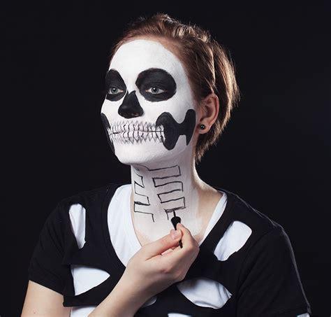 make up skelett schminkanleitung skelett