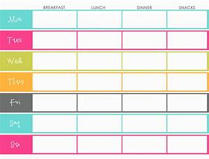Doing it solo mum blog for Two week meal plan template