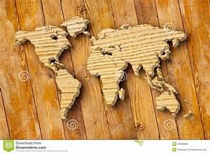 Carte Du Monde En Bois : carte du monde d coupant sur la planche en bois illustration stock image 47098083 ~ Teatrodelosmanantiales.com Idées de Décoration
