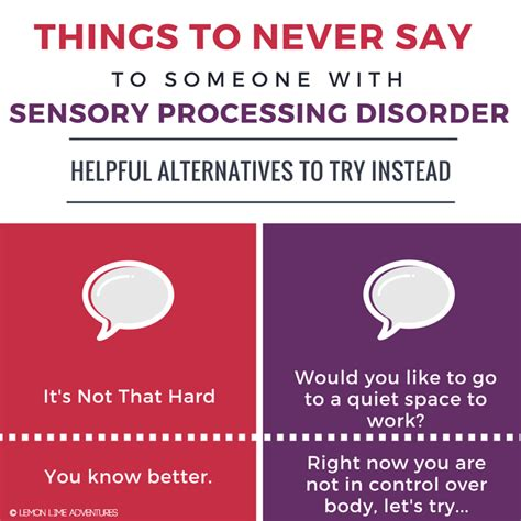 what is sensory processing 786 | THINGS TO NEVER SAY square