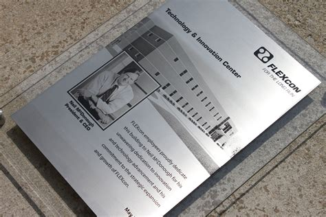 hand  dedication plaque etched stainless steel