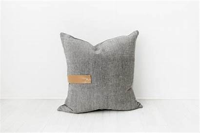Pillow Pillows Leather End Throw Base Statement