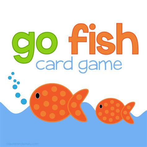 go fish cute packaging for notes under the sea go fish game lauren mckinsey printables