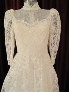 vintage style wedding dresses lace 1960 s edwardian style ivory lace vintage wedding gown