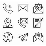 Email Icon Phone Icons Vector Mail Symbol