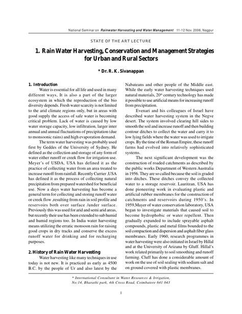 rainwater harvesting essay  tamil rainwater