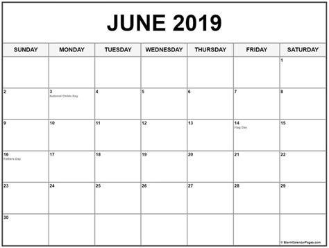 june  calendar  holidays june june