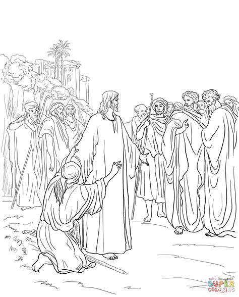 Ausmalbild Jesus Heilt Einen Besessenen Ausmalbilder