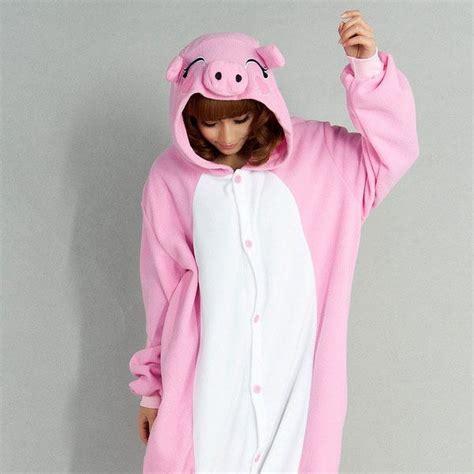 chambre commerce de kigurumi cochon costume onesie porc thermique s m l xl