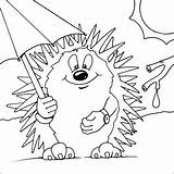Hedgehog Coloring Pages Hedgehogs Printable Cute Drawing Colouring Egel Colour Baby Template Animals Animal Kleurplaten Google Sheets Nl Met Paraplu sketch template