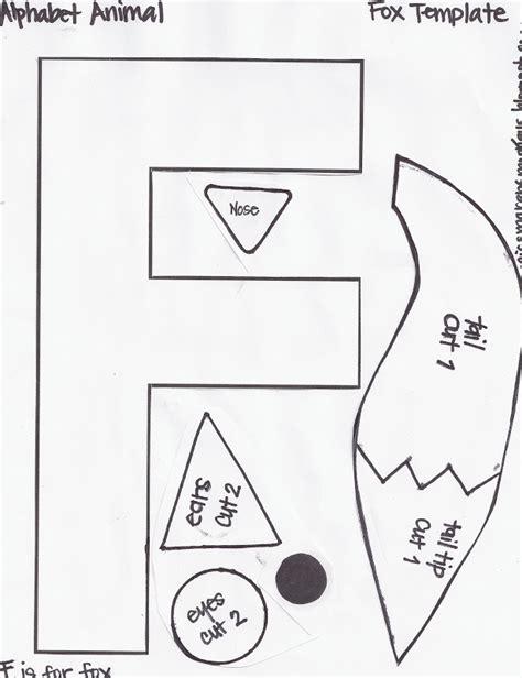Template Of A Fox by Miss Maren S Monkeys Preschool Fox Template