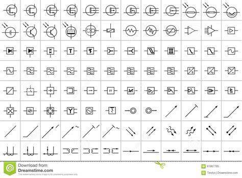 symboles electroniques  electriques   photo stock