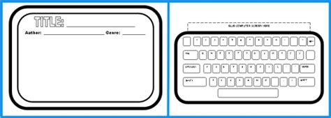 computer book report project templates worksheets