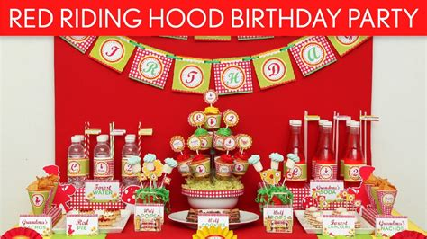 red riding hood birthday party ideas red riding