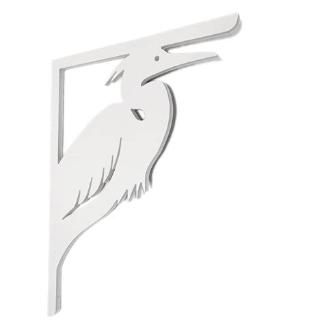 Pvc Porch Brackets by Nature Brackets Decorative 16 In Pvc Heron Mailbox Or
