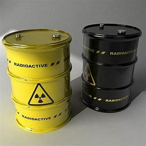 3D model Two barrels with radioactive materials | CGTrader