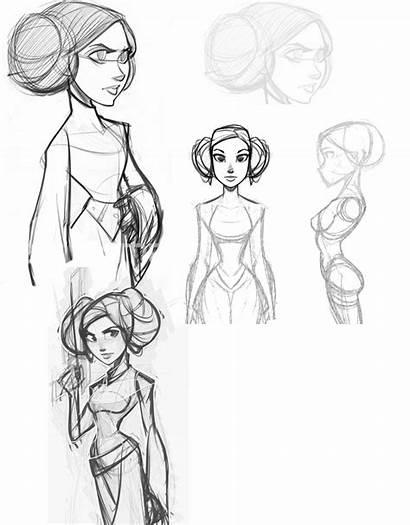 Disney Infinity Drawing Drawings Sketches Leia Organa