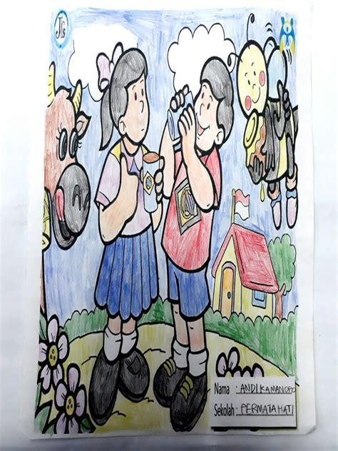 contoh gambar gambar lomba mewarnai hari anak nasional