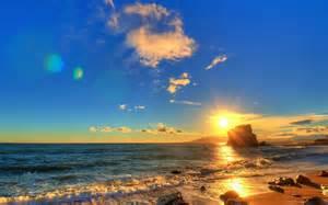 Beach Scene Summer Sunset