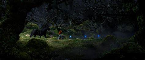 brave forest wisps pixar disney concept scenery witch angus mysterious final wisp merida scotland drawing frame progression film tree grim