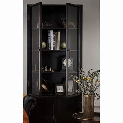 Cabinet Display Industrial Travis Storage Shelving Cabinets