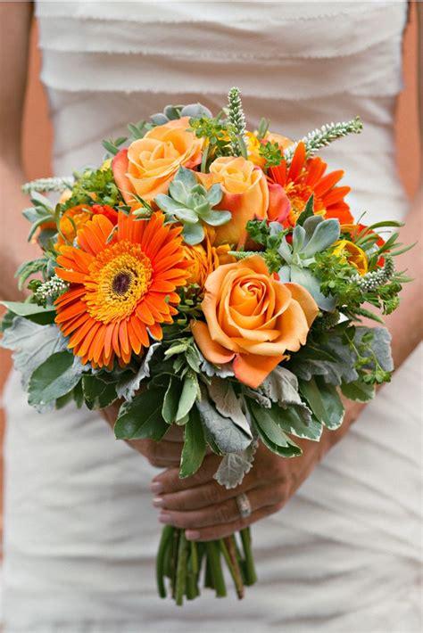 orange flower bouquets ideas  pinterest
